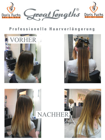 Haarverlaengerung mit Great Lengths von Doris Fuchs Art of Hair
